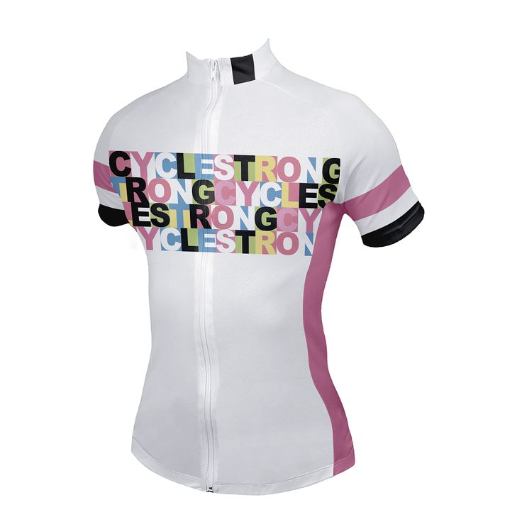 Cycle Strong Women's Cycling Jersey - Front View -  http://www.cyclegarb.com/cyclestrong-womens-cycling-jersey.html