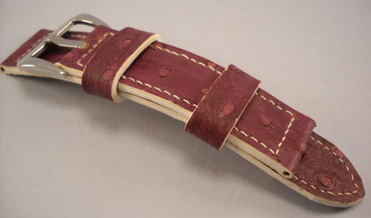 Panerai strap-strap Watch-Compatible with Panerai-Rolex-handmade in italy-genuine leather- Molded ostrich leather