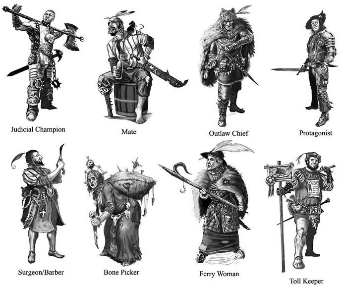 Warhammer Fantasy Roleplay Careers by blobsticks