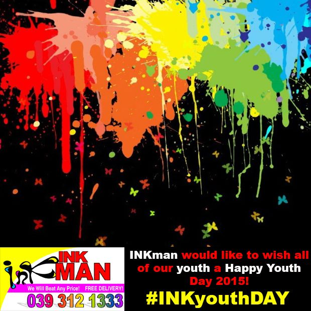 INKman would like to wish all of our youth a Happy Youth Day 2015!
