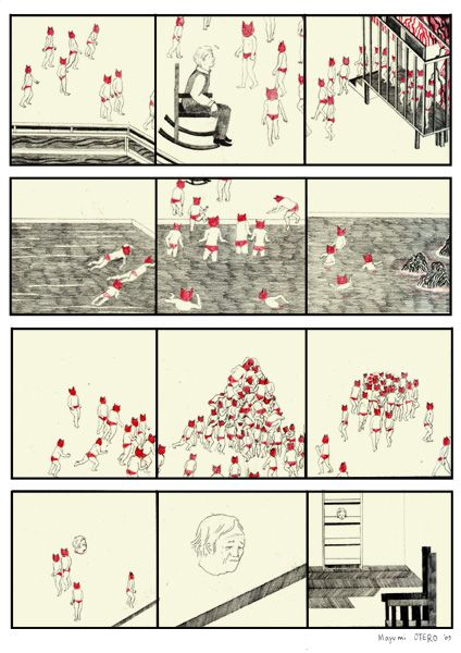 Storyboard Illustrations by Mayumi Otero | Ape on the Moon: Contemporary Illustration