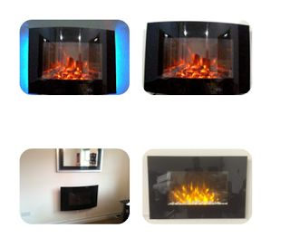Fit electric fire red