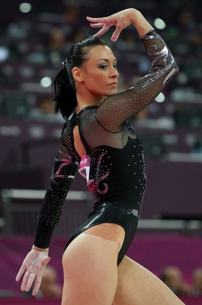 Catalina Ponor of Romania competes in the Artistic Gymnastics Women's Floor Exercise final on Day 11 of the London 2012 Olympic Games at North Greenwich Arena on August 7, 2012 in London, England.