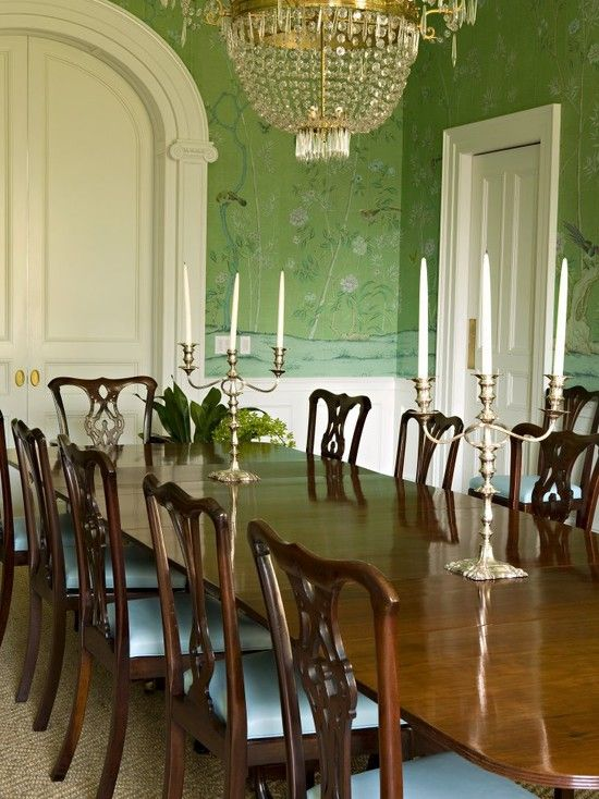 Best 25 Wall Paper Dining Room Ideas On Pinterest