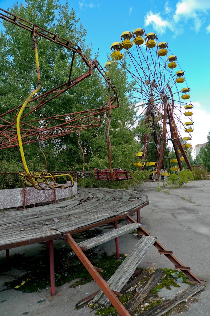 Pripyat (Chernobyl), Ukraine - I'd love to take pictures here, except, ya know, without the radiation poisoning.