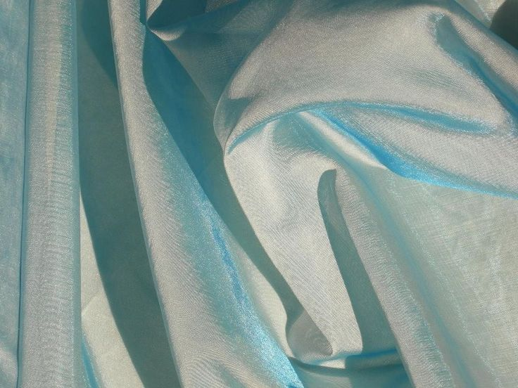 """Blue iridescent organza fabric italian sheer material 61""""W x by the yard #Unbranded"""