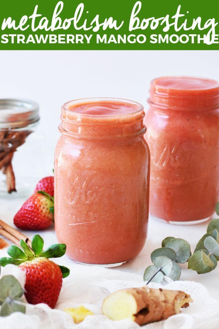 Stoffwechselsteigernder Erdbeer Mango Smoothie   hausgemachte Smoothie-Rezepte, …   – Gluten Free Goodness – Favorite Recipes!