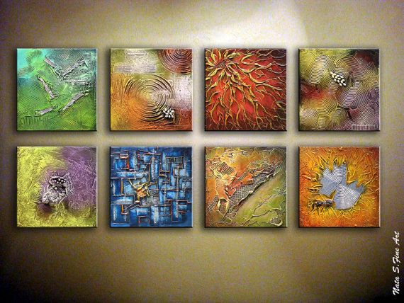 Original Abstract Heavy Textured Painting.Modern by NataSgallery, $600.00