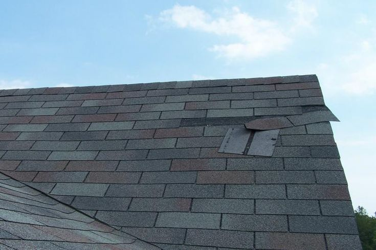 Poorly installed shingles