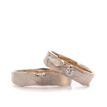 Originele gouden trouwringen met diamant | Wim Meeussen Goudsmederij Antwerpen