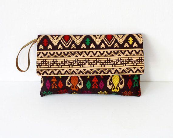 Envelope Clutch, Traditional ikat clutch, Tribal Clutch