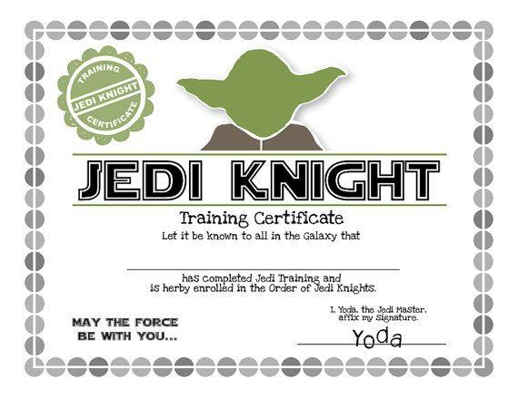 Jedi Knight certificate