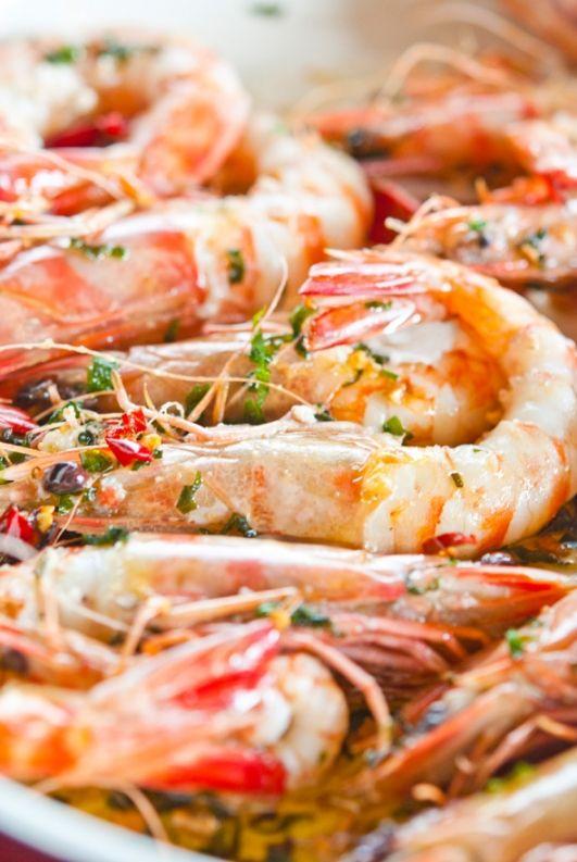 Креветки в чесночном соусе / Gamberoni in guazzetto   Элла Мартино Рецепты Кулинарные туры Итальянская кухня