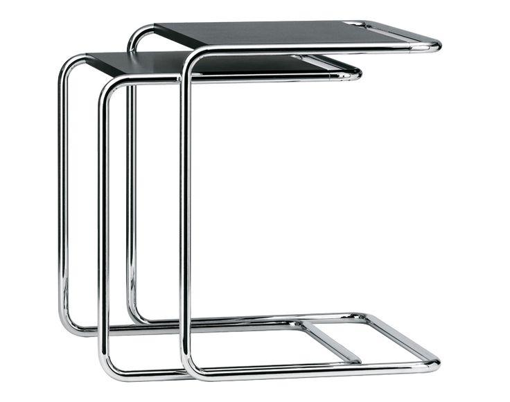 Thonet B 97 - Mesa auxiliar Un mueble clásico contemporáneo:  Cuando en los años 1920 se utilizó por primera vez el tubo de acero como material para construir muebles, fue el arquitecto Marcel Breuer el primero en crear muebles con dicho material.  http://www.topdeq.es/topdeq/ProductDetail.action?R=8799193989121&N=4235