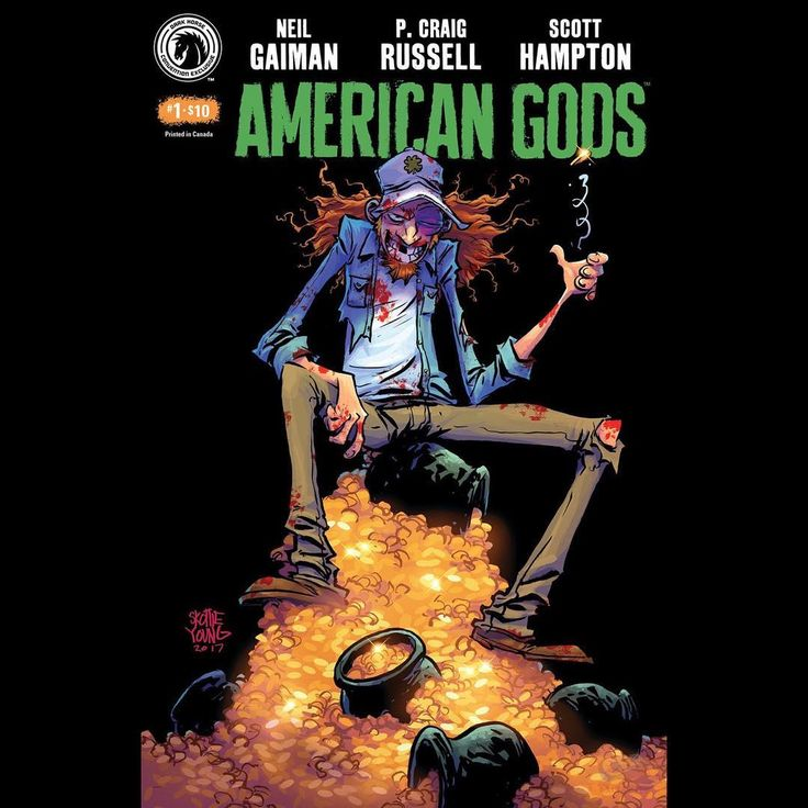 My SDCC exclusive American Gods cover. #neilgaiman #darkhorse #comicbooks #comics