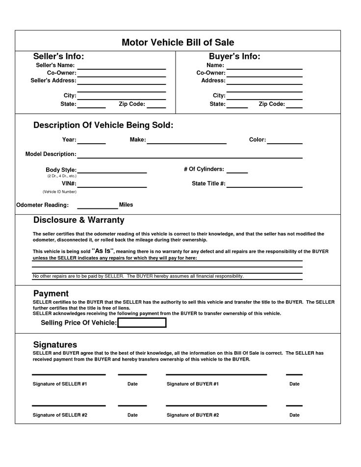 Business Bill Of Sale Form Printable Sample Rv Bill Of Sale Form