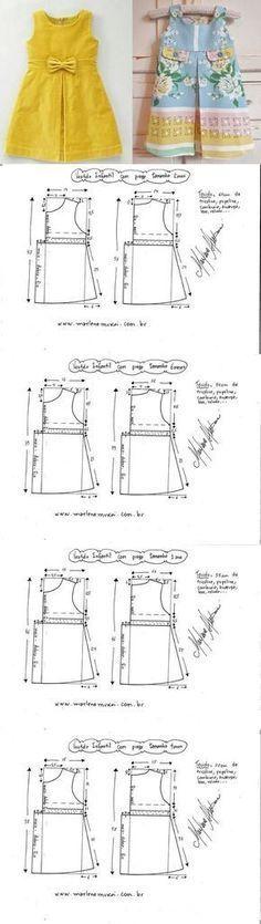 Выкройка платья для девочки от 1 до 12 лет (Шитье и крой)   Журнал Вдохновение Рукодельницы