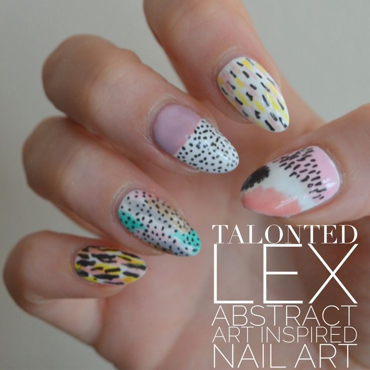 Talonted Lex abstract art #nailart inspired by Ashley Goldberg. #nails…