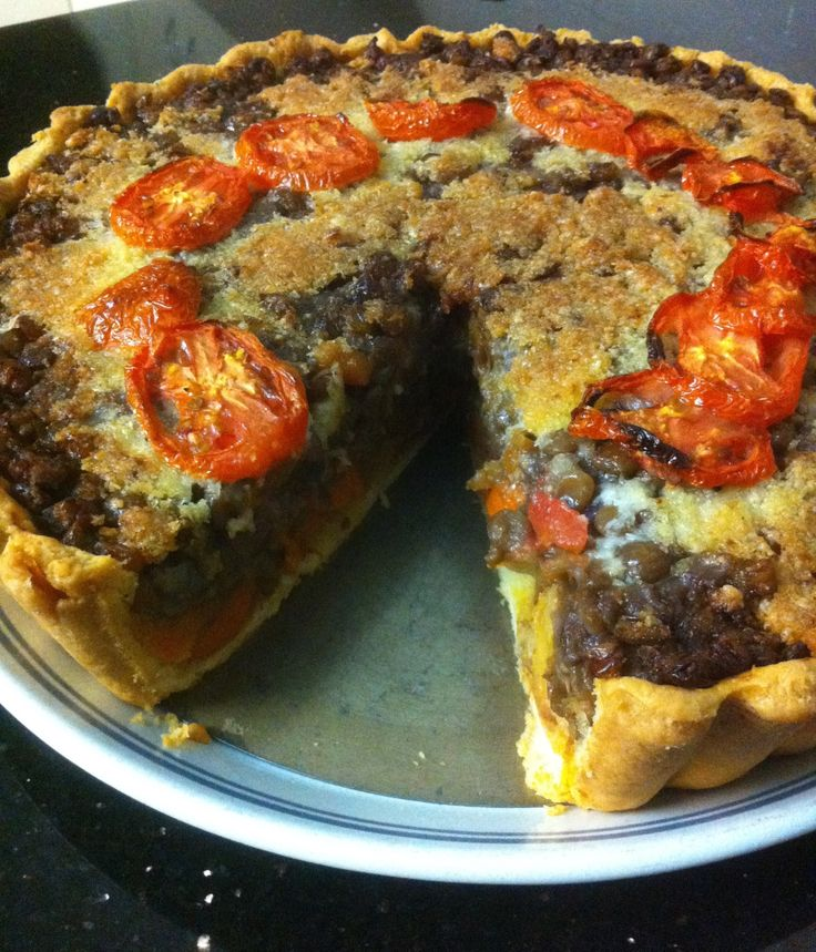 Another delicious pie. Vegetable and lentils!