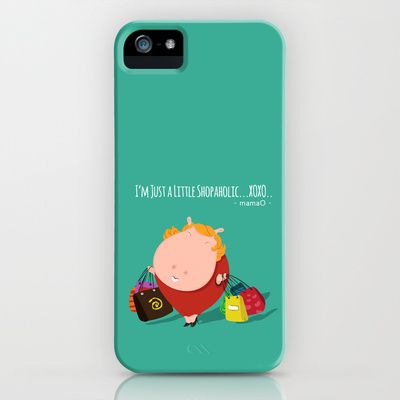 mamaO - shopaholic! iPhone & iPod Case by Michael Tjandra - $35.00