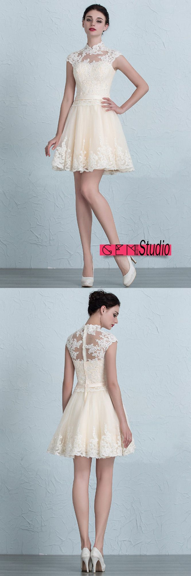 867 best Sweet & Short Wedding Dress images on Pinterest