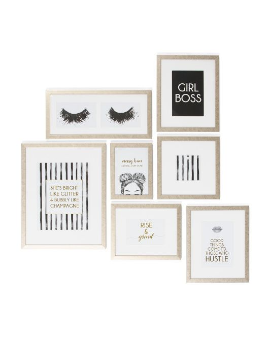 7pc Metallic Gallery Wall Frame Set