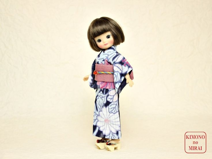 Blue YUKATA kimono,The size for Betsy doll,Japanese clothe KIMONOnoMIRAI #ClothingAccessories