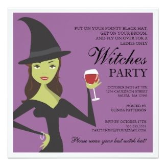 96 best halloween chic invitations images on pinterest halloween witch and wine party invite stopboris Choice Image