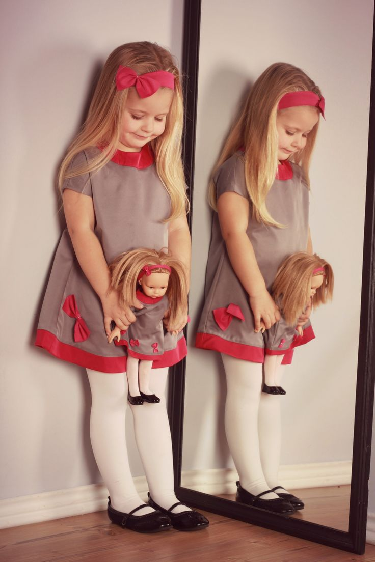 Unique birthday or christmas present for girl. Doll dressed like your daughter.