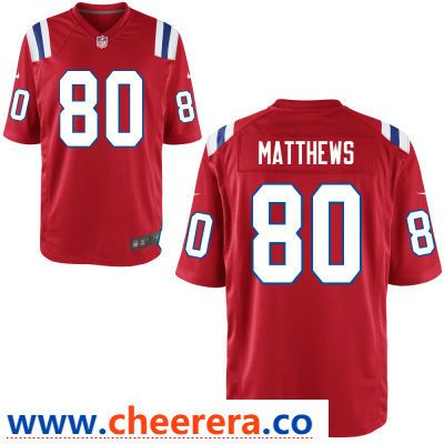 44e78819ebf ... where to buy mens new england patriots 80 jordan matthews red alternate  stitched nfl nike game where can i buy womens elite navy blue customized  jersey ...