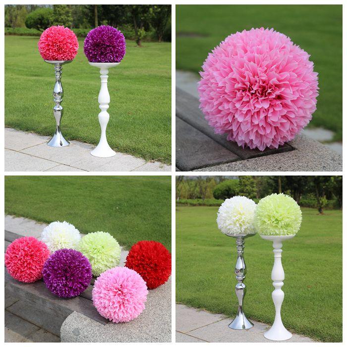 """10 """" ( 25 cm ) boules à baiser hortensias romantique de fleurs en soie centres nouveaux mariages Hanging boule fleur usine gros(China (Mainland))"""