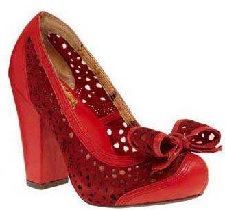Miss L Fire Red Court shoe