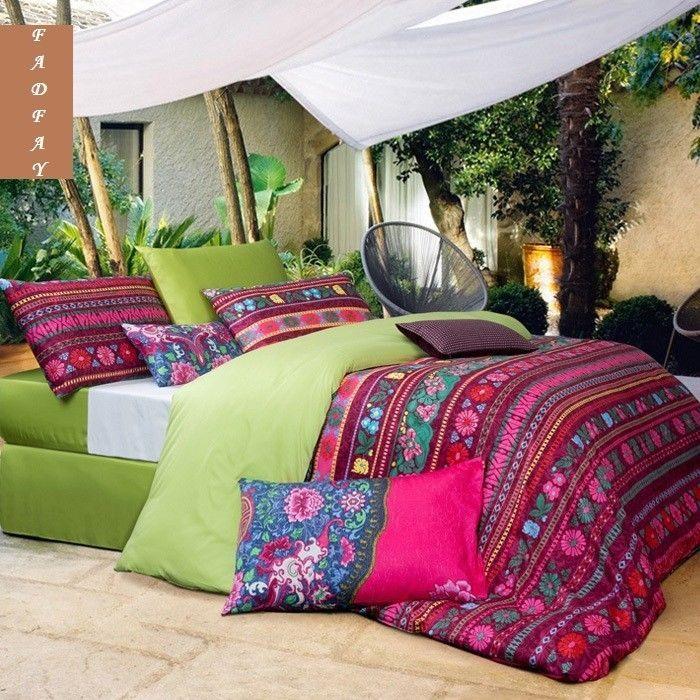 Modern Bohemian Duvet Covers Designer Girls Boho Bedding Sets Queen Bed Sets #FADFAY #Modern