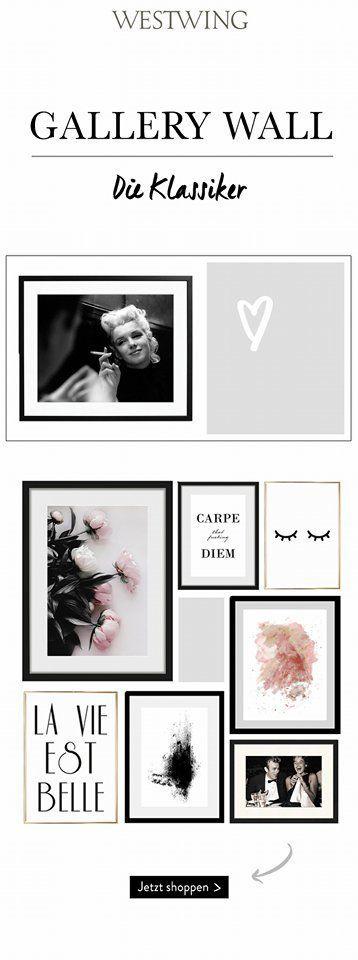 Der letzte Schrei in Sachen Wandgestaltung? Eine Gallery Wall im klassischen Look! Dazu braucht Ihr nur Eure liebsten Kunstwerke und eine Portion Kre… – Westwing Home & Living Deutschland