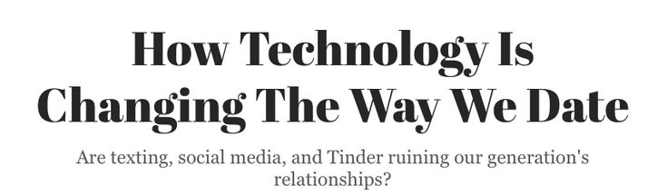 """How Technology Is Changing The Way We Date"" (2015)"