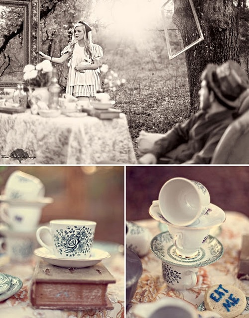 For an Engagement Shoot, an 'Alice in Wonderland' Theme - DesignTAXI.com