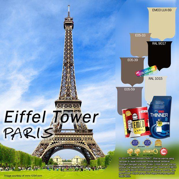 Menara Eiffel Paris #BiasaJadiLuarBiasa #EMCOPaint http://matarampaint.com/detailNews.php?n=360