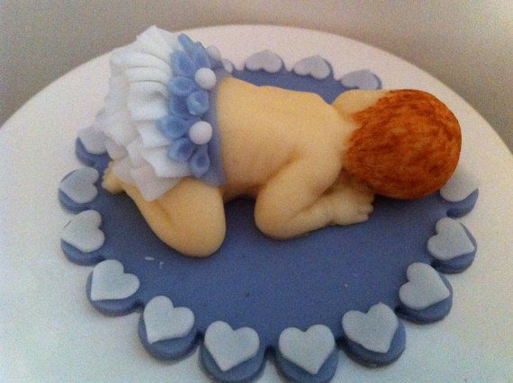 Fondant Baby with Ruffle Diaper by FondantFads on Etsy