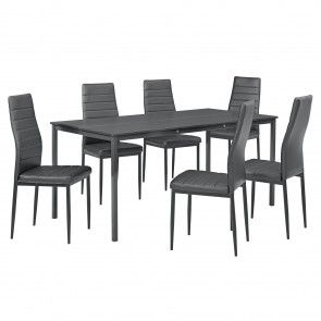 [en.casa] Set mobili sala da pranzo con tavolo e 4 o 6 sedie 146,60 €