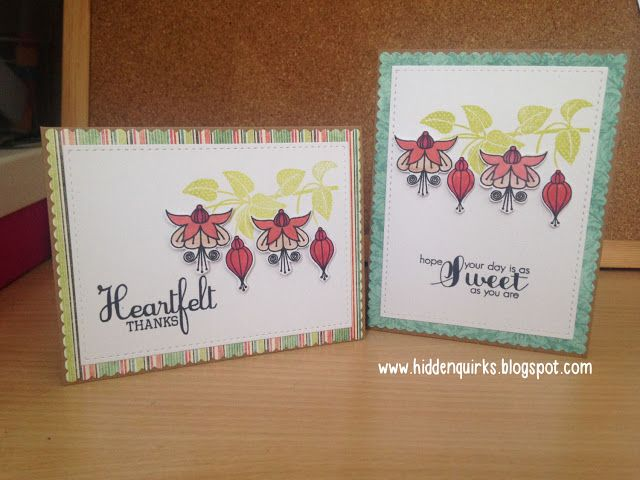Handmade Cards using a Clearly Besotted Stamps stamp set that came free with issue 133 of Simply Cards and Papercrafts magazine
