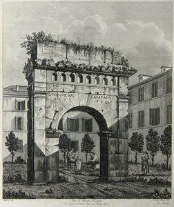 Arco di Pompeo Campano In Savoja nel Cortile della Casa del Sig. Magnin | Sanders of Oxford