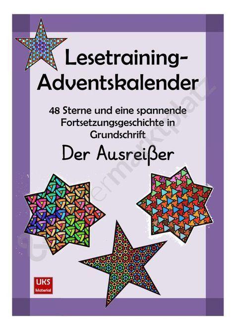 Lesetraining-Adventskalender in Grundschrift KOMPLETTPAKET - Seite 1