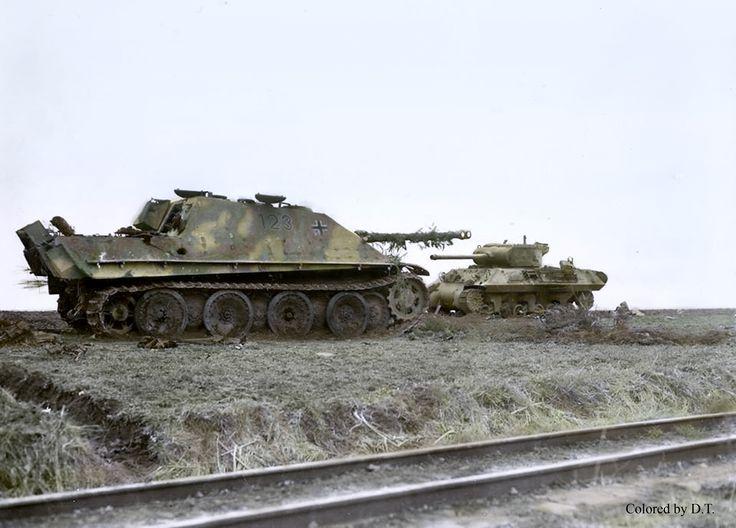 Derribado Jagdpanther cerca de Remagen puente.