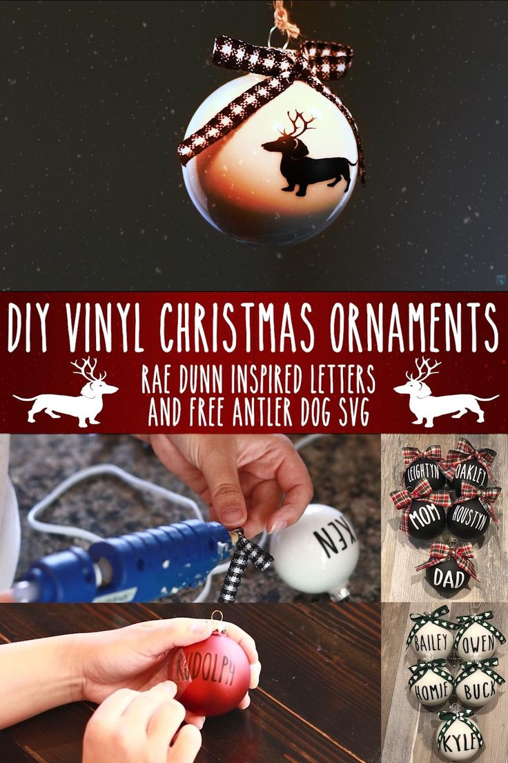 DIY Rae Dunn Inspired Christmas Ornaments With Free
