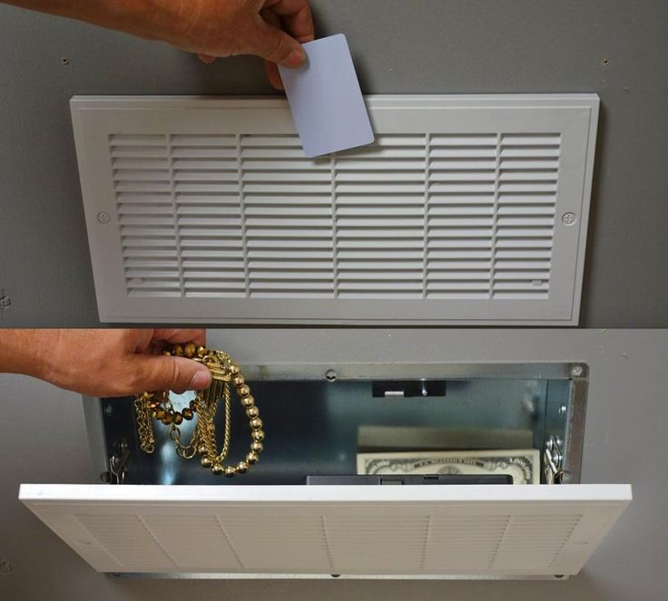 This Secret Vent Stash Safe Requires an RFID Security Card To Open It