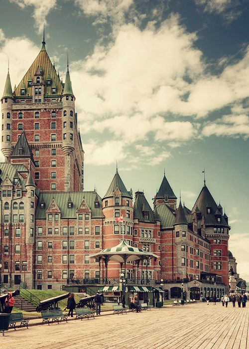 Chateau Frontenac, Quebec City...the most amazing hotel I've stayed at.