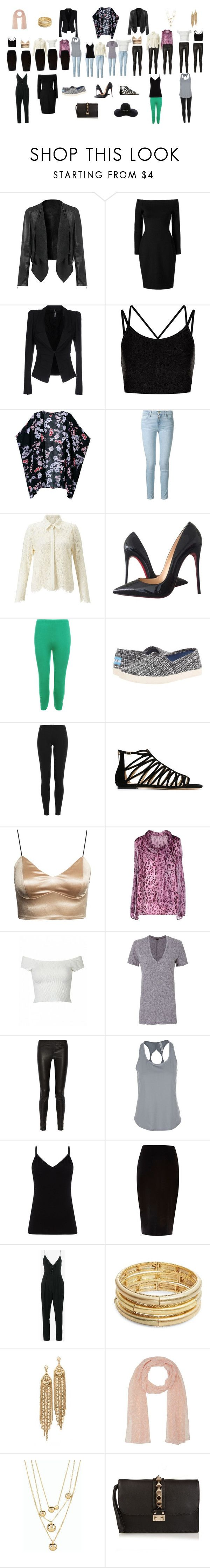 """""""Outfit Guide"""" by smartbirdy on Polyvore featuring L'Agence, Liviana Conti, Sweaty Betty, Frame, Christian Louboutin, WearAll, TOMS, Polo Ralph Lauren, Jimmy Choo and Blumarine"""