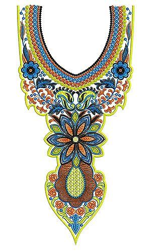Latest Designer Pakistan Dresses Embroidery Design