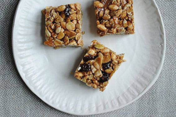 Sara's Granola Bars  Some comments said to cut the salt in half. Other one said to put in muffin tin for individual servings so you dont have to cut into bars.