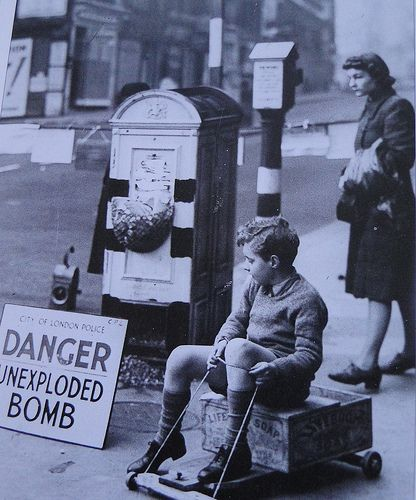 London.  WWII. These days there's a great deal more fuss when they find one. National news at least.